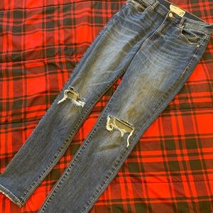 Garage High Rise Distressed Skinny Jeans Size 9